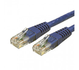 StarTech.com 1 ft Cat 6 Blue Molded RJ45 UTP Gigabit Cat6 Patch Cable - 1ft Patch Cord