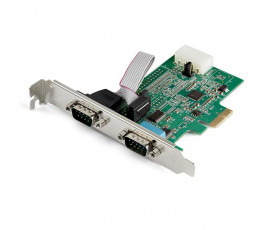 StarTech.com 2-port PCI Express RS232 Serial Adapter Card - PCIe RS232 Serial Host Controller Card - PCIe to Dual Serial DB9 Card - 16950 UART - Expansion Card - Windows, macOS, Linux