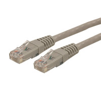 StarTech.com 2ft CAT6 Ethernet Cable - Gray CAT 6 Gigabit Ethernet Wire -650MHz 100W PoE++ RJ45 UTP Molded Category 6 Network/Patch Cord w/Strain Relief/Fluke Tested UL/TIA Certified