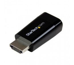 StarTech.com Compact HDMI to VGA Adapter Converter - Ideal for Chromebooks Ultrabooks & Laptops – 1920x1200/1080p