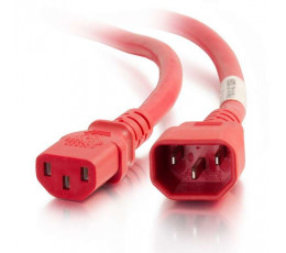 C2G 17535 power cable Red 0.9 m C14 coupler C13 coupler