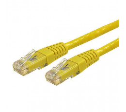 StarTech.com 1 ft Cat 6 Yellow Molded RJ45 UTP Gigabit Cat6 Patch Cable - 1ft Patch Cord