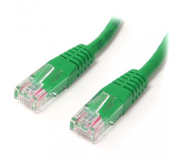 StarTech.com 1 ft Cat5e Green Molded RJ45 UTP Cat 5e Patch Cable - 1ft Patch Cord