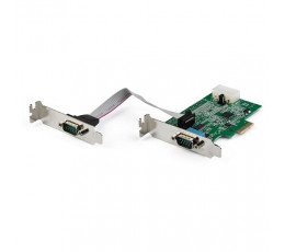 StarTech.com 2-port PCI Express RS232 Serial Adapter Card - PCIe RS232 Serial Host Controller Card - PCIe to Serial DB9 - 16950 UART - Low Profile Expansion Card - Windows, macOS, Linux