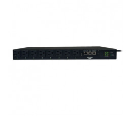Tripp Lite 1.4kW Single-Phase ATS / Switched PDU, 120V (8 5-15R), 2 5-15P, 100-127V Input, 2 12ft Cords, 1U Rack-Mount