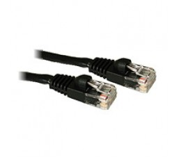 C2G 10ft Cat5E 350MHz Snagless Patch Cable Black networking cable 3 m