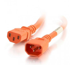 C2G 17518 power cable Orange 3 m C14 coupler C13 coupler