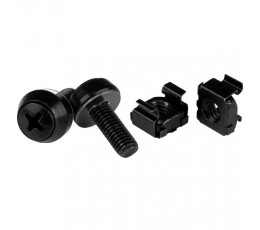 StarTech.com M6 x 12mm - Screws and Cage Nuts - 50 Pack, Black