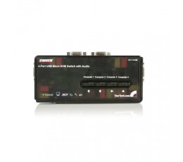 StarTech.com 4 Port Black USB Kit with Cables and Audio