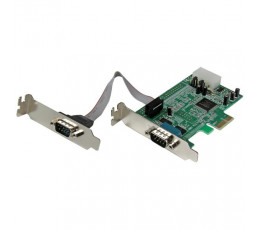 StarTech.com 2 Port Low Profile Native RS232 PCI Express Serial Card with 16550 UART