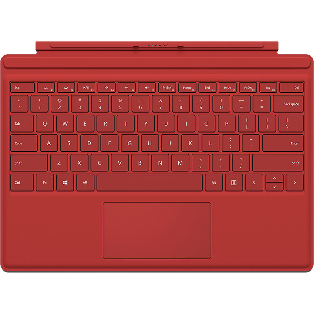 new red microsoft surface pro 4 type cover keyboard. Black Bedroom Furniture Sets. Home Design Ideas